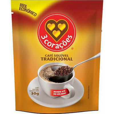 CAFE 3 CORACOES SOLUV.TRAD.50G SACHE